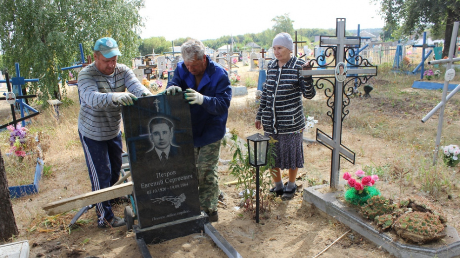 В Ольховатском районе переустановили 75 памятников ветеранам ВОВ