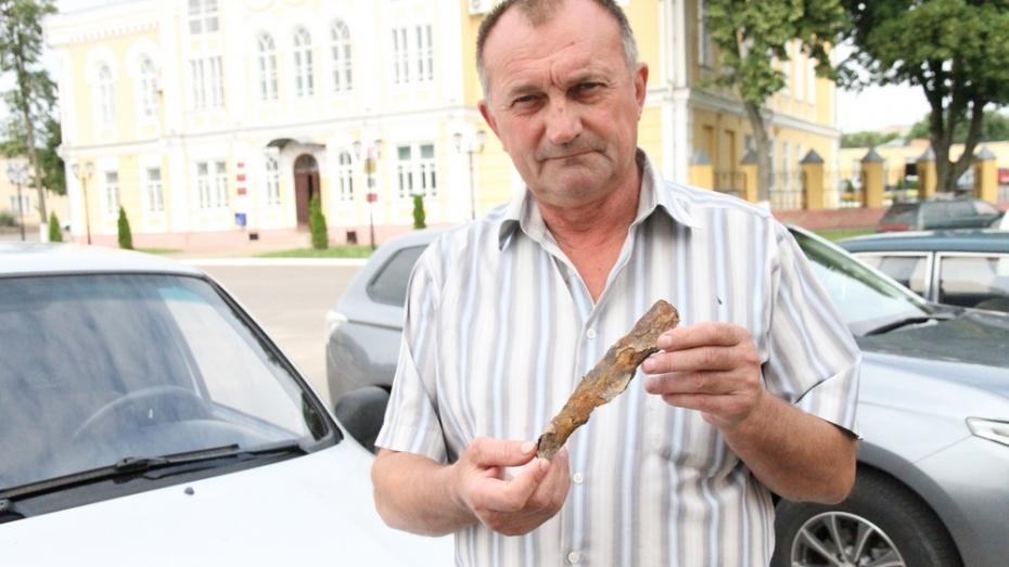 Богучарец нашел в Дону наконечник копья