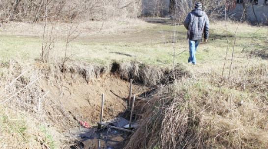 В природном заказнике Каменная Степь Таловского района устроили свалку и сток канализации