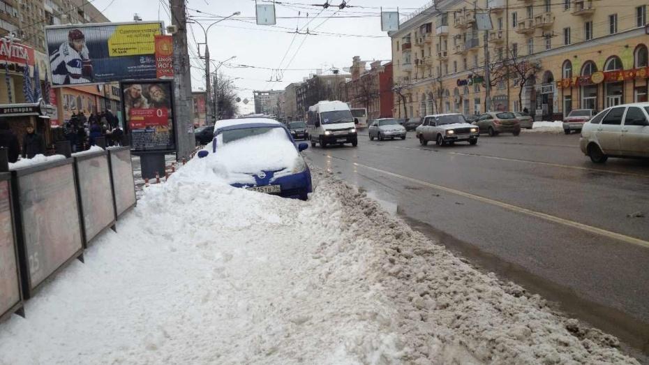 23 тысячи кубометров снега вывезли за выходные из Воронежа
