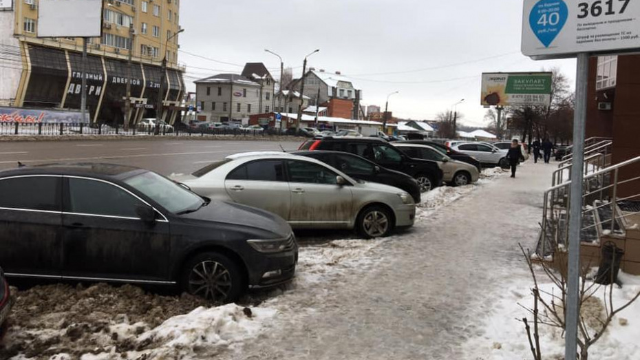 Воронежский депутат пожаловался на заваленные снегом платные парковки в прокуратуру