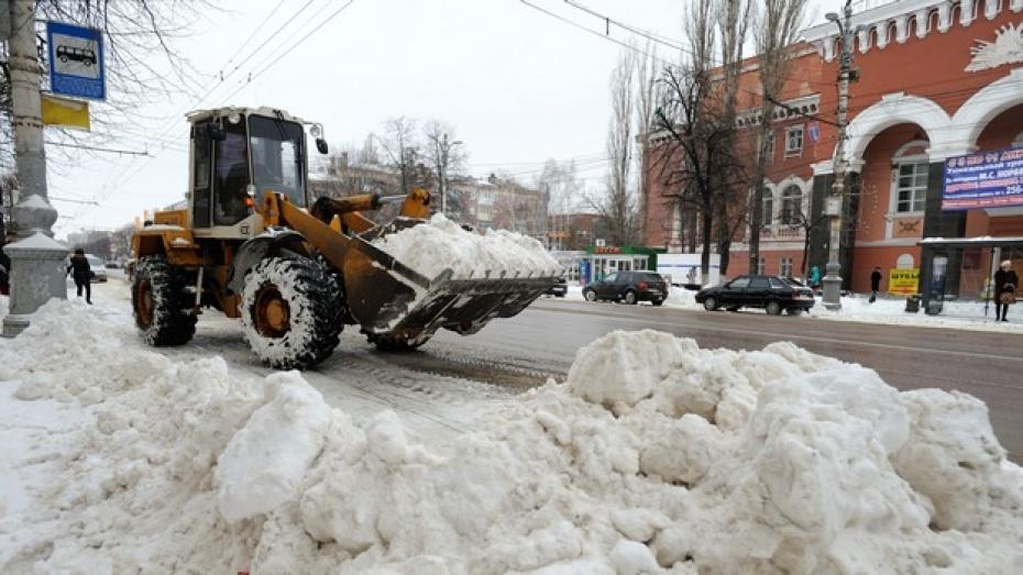 Обстановка на дорогах Воронежа и области в условиях снегопада находится под контролем