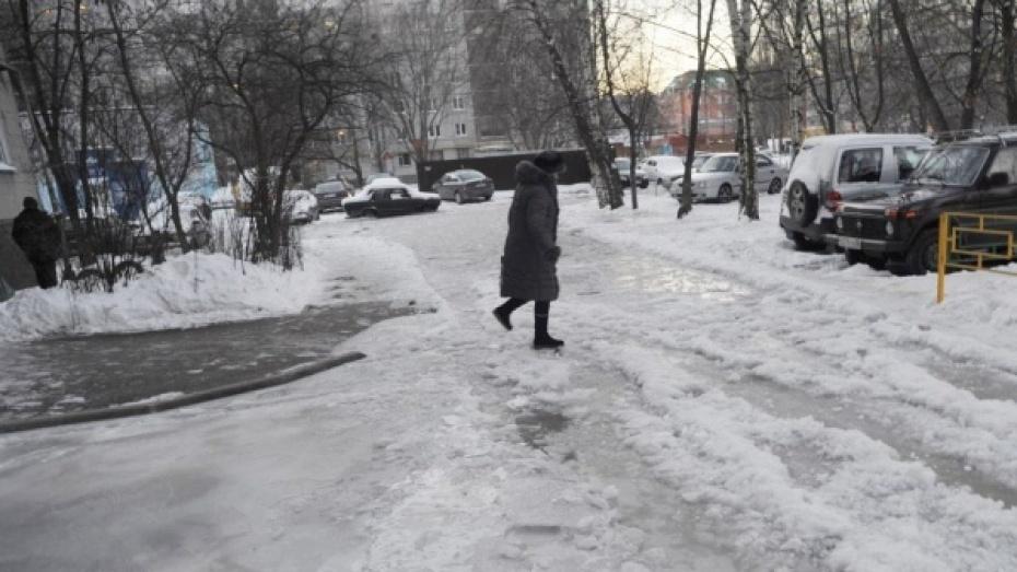 Спасатели предупредили жителей Воронежской области о гололеде