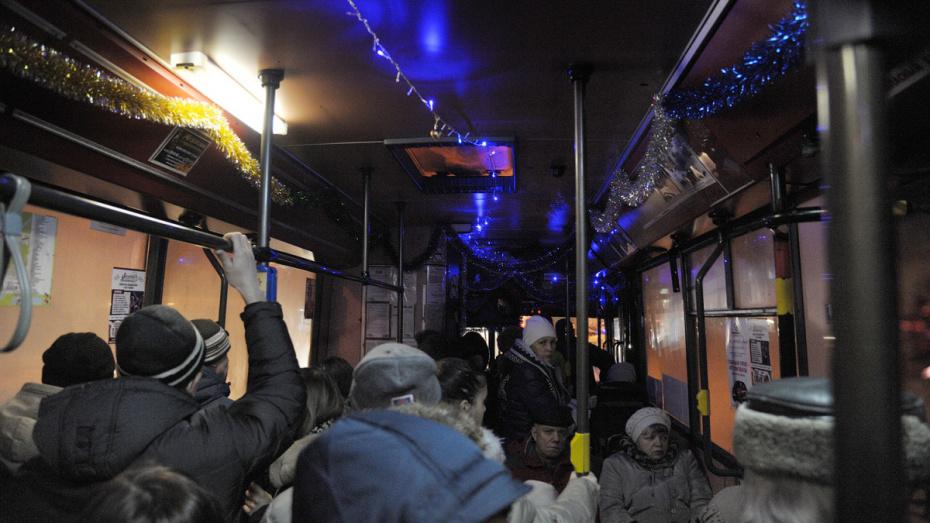 Мэрия сообщила о движении транспорта в центре Воронежа 31 декабря