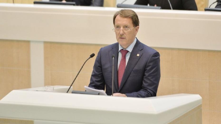 Воронежский губернатор предложил Совету Федерации восстановить программу «Чистая вода»