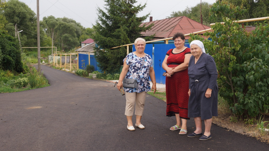 В хохольском селе Рудкино на капремонт уличной дороги потратили 5,5 млн рублей