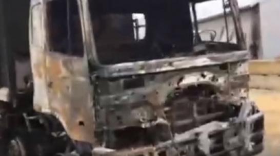Рядом с «Градом» под Воронежем за 20 минут сгорел самосвал