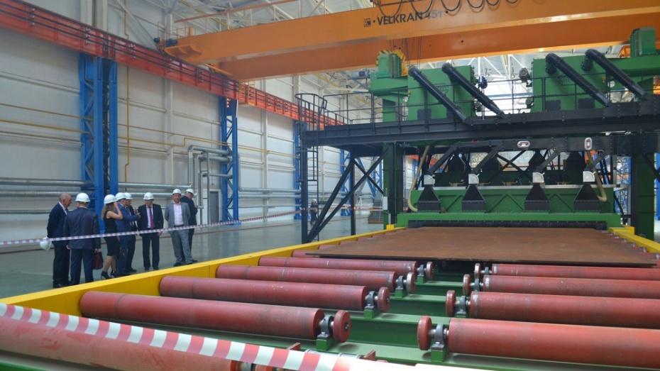 Цех по производству высокопрочных труб в Лисках откроется в ноябре
