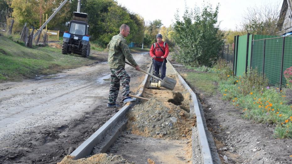 В подгоренском селе Колодежное на строительство тротуара потратят 1,3 млн рублей