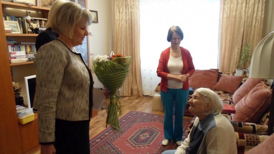 Жительница Воронежа отметила 100-летний юбилей