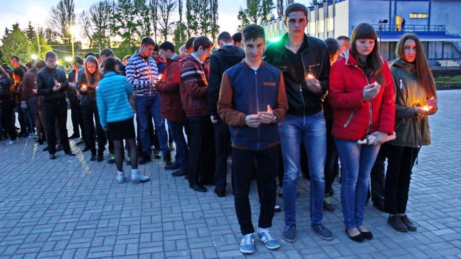 Школьники Терновского района зажгли «Свечу памяти»