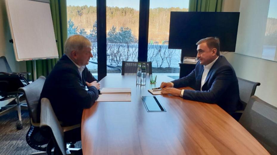 Губернаторы Воронежской и Тульской областей обсудили сотрудничество в сфере туризма