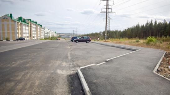В Лисках построили дополнительные тротуар и автостоянку возле лыжероллерной трассы