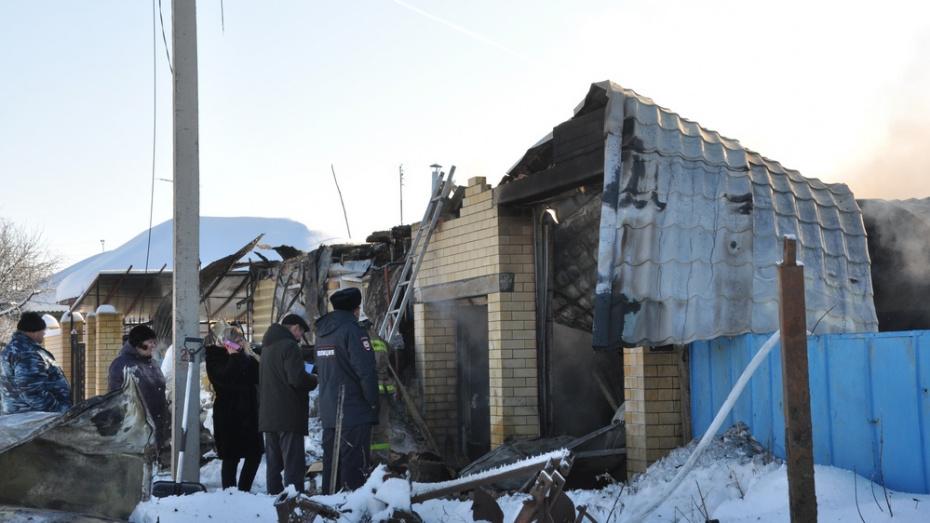 В Воронежской области при пожаре в доме погиб 60-летний мужчина