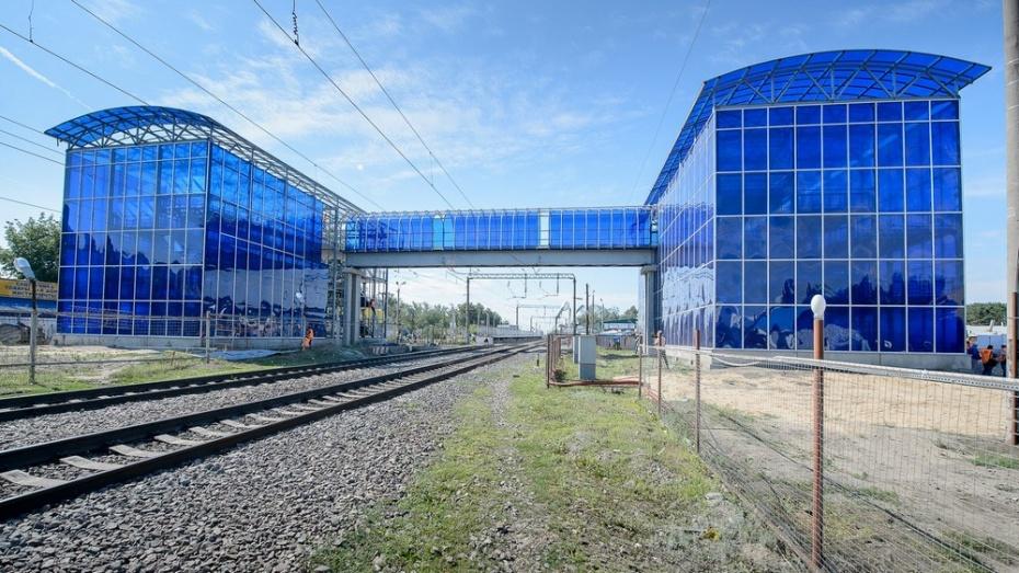 Новый пешеходный мост над железной дорогой на Машмете в Воронеже откроется к октябрю