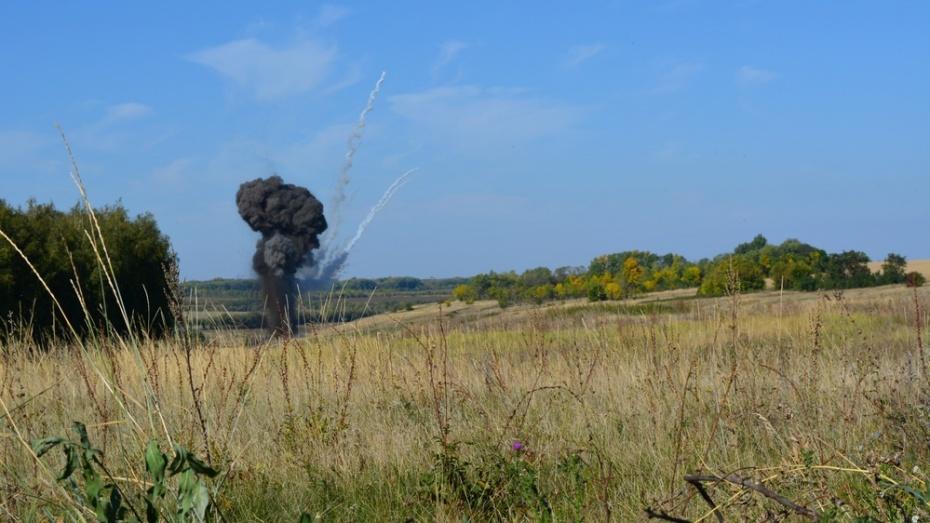 В Острогожском районе взрывотехники уничтожили 78 снарядов времен войны