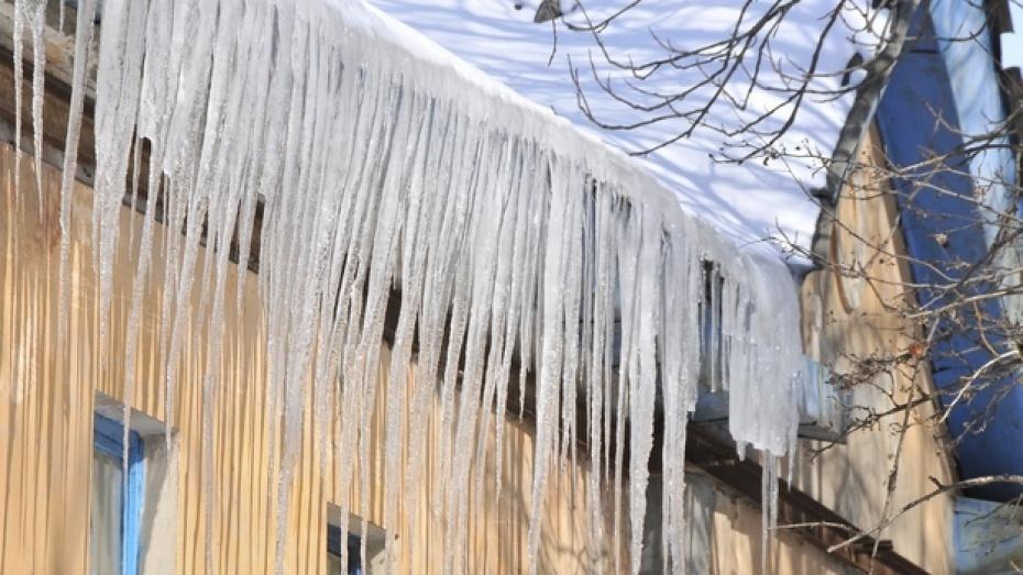 В Воронеже упавшая с крыши глыба льда травмировала девушку