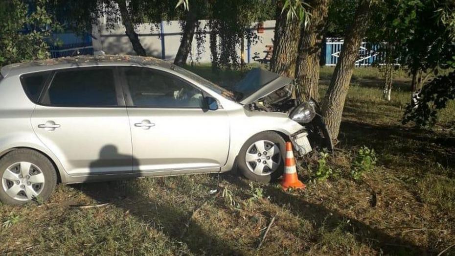 В Павловском районе KIA Fit врезалась в дерево: пострадали 4 человека