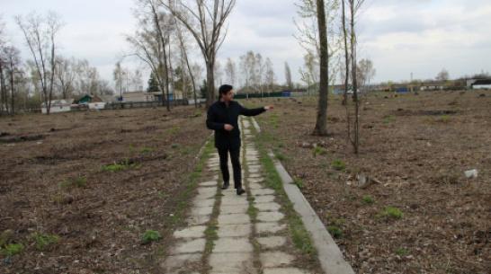 В подгоренском поселке Пробуждение благоустроят парк