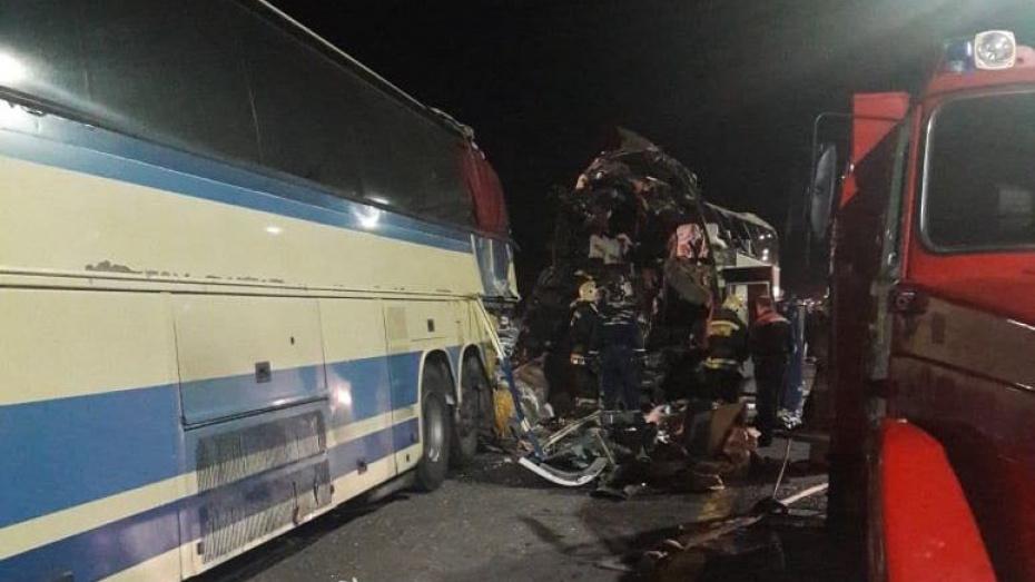 Количество погибших при столкновении автобусов под Воронежем выросло до 5
