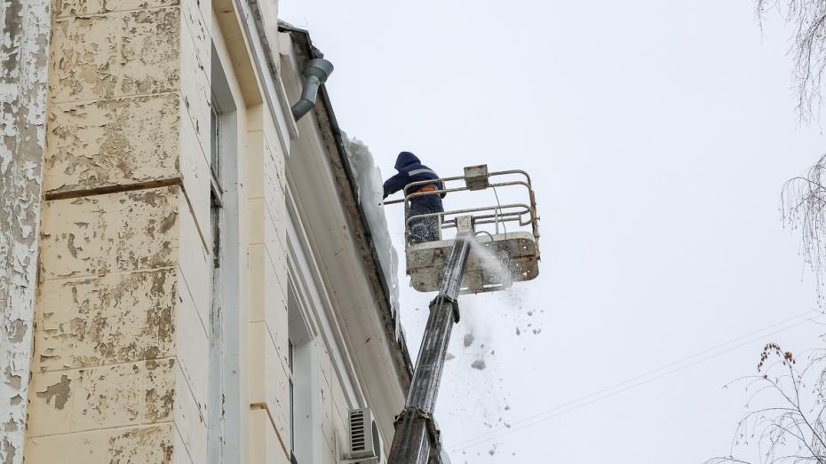 В Воронеже с 4 по 8 февраля от снега и наледи очистили 4103 крыши