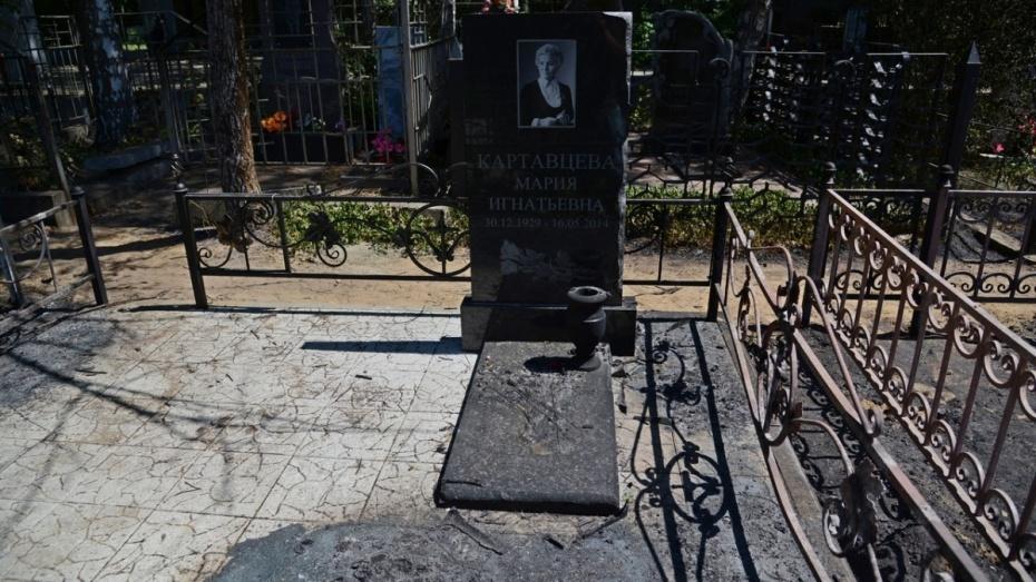 В Воронеже на Коминтерновском кладбище сгорели могилы на Аллее Славы