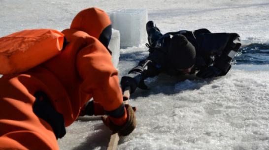 Спасатели: лед на Воронежском водохранилище стал тоньше на 10 см
