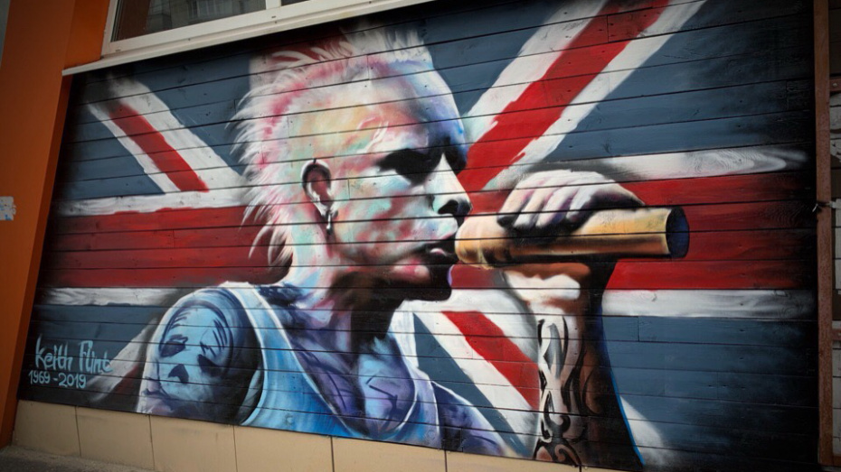 Огромное граффити погибшего музыканта Кита Флинта из The Prodigy появилось в Воронеже