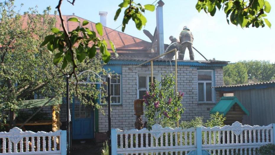 В Терновском районе при пожаре в собственном доме погиб мужчина