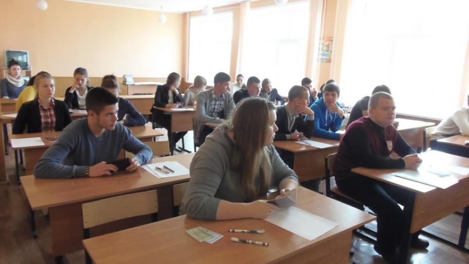 Верхнемамонские девятиклассники сдали первый выпускной экзамен
