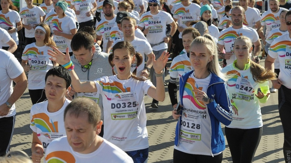 Четвертый «Воронежский марафон» прошел на Адмиралтейской площади