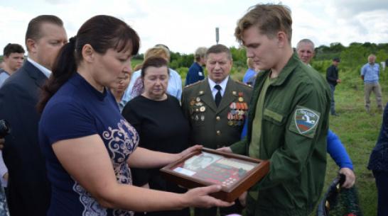 В Кантемировском районе перезахоронили останки погибшего под Сталинградом земляка