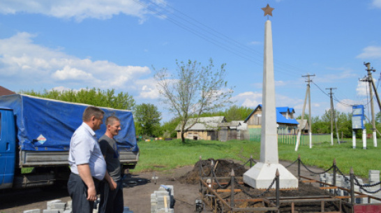 В терновском селе Бабино построили памятник землякам-фронтовикам