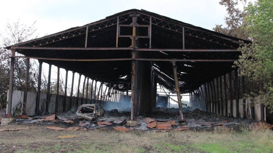 На сельхозпредприятии Воронежской области сгорели 1,5 тыс тюков сена и ангар