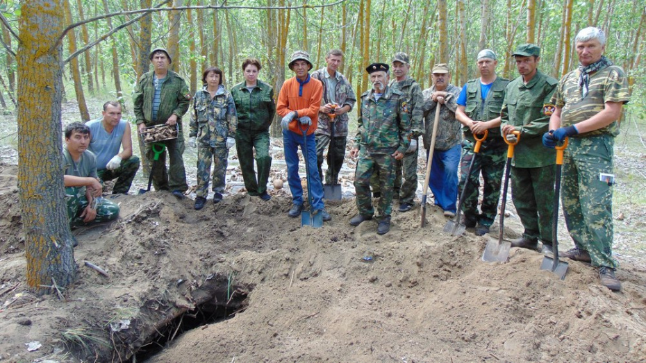 В Воронежской области поисковики нашли итальянский блиндаж с останками 74 советских солдат