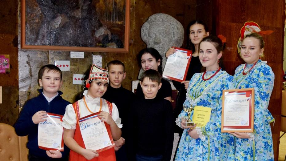 Хохольские школьники стали лауреатами конкурса чтецов «Души прекрасные порывы»
