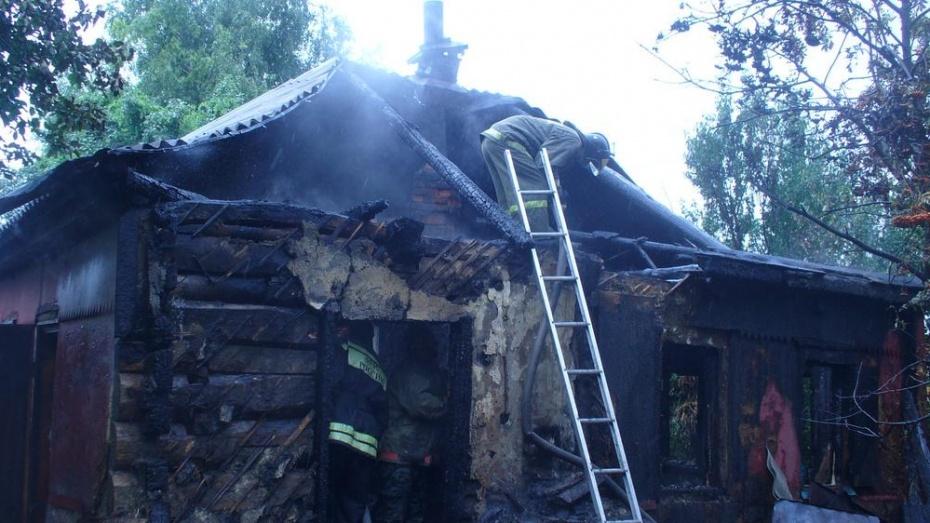 В Лискинском районе при пожаре погиб 66-летний мужчина
