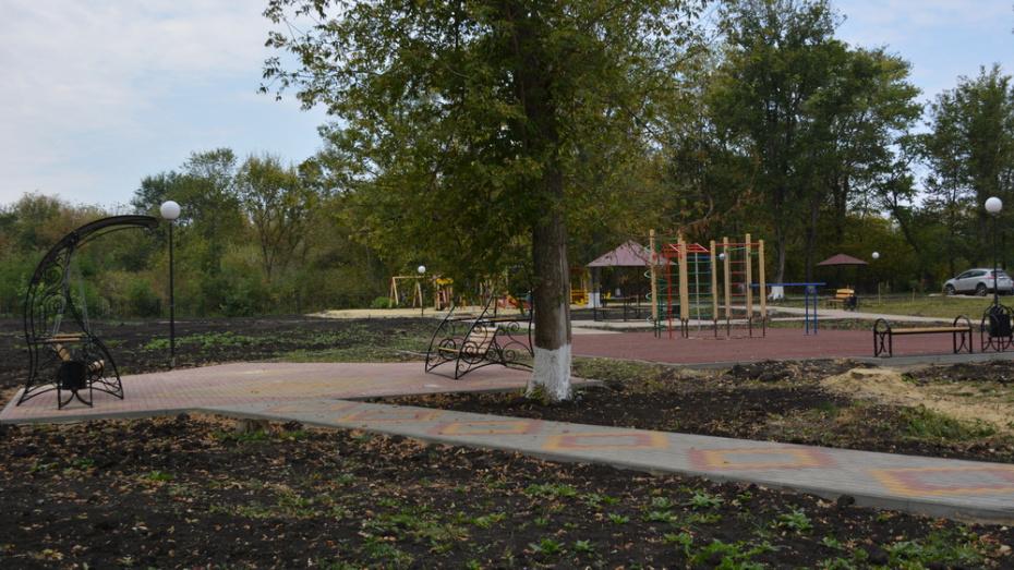 В нижнедевицком селе Першино благоустроили парк