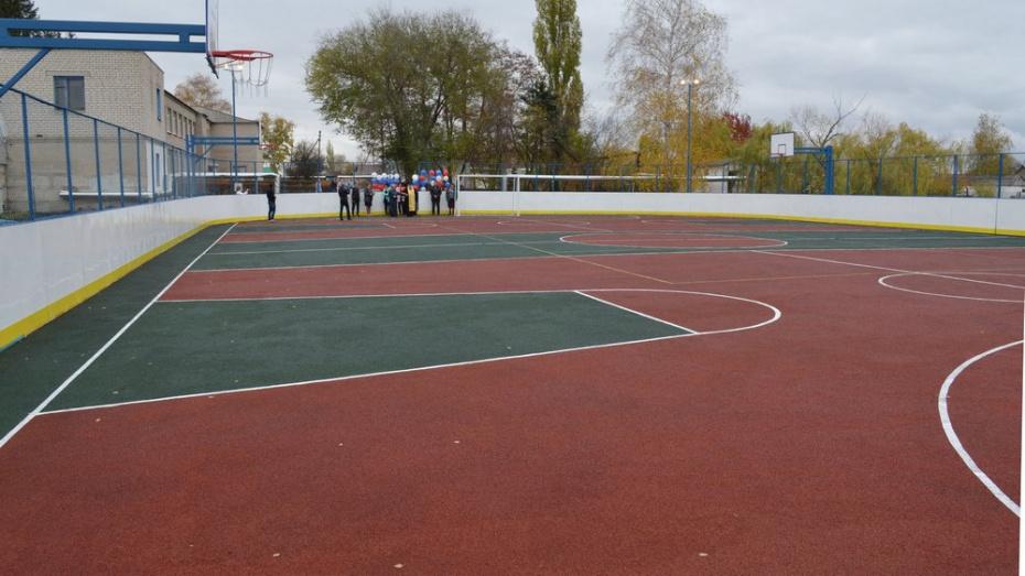 В лискинском селе Троицкое открыли спортивную площадку за 3 млн 800 тыс рублей
