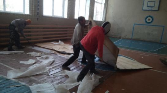 В школе верхнемамонского села Русская Журавка отремонтируют спортзал