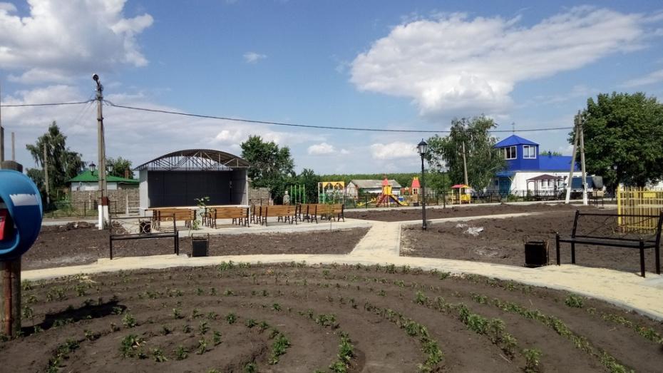 В борисоглебском селе Ульяновка сделали сквер