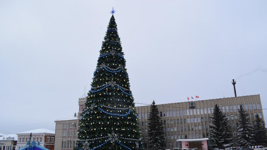 В Борисоглебске установили елку за 2,3 млн рублей