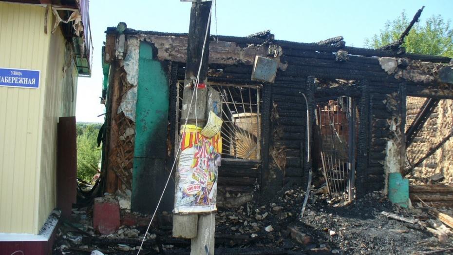 В хохольском селе сгорел магазин