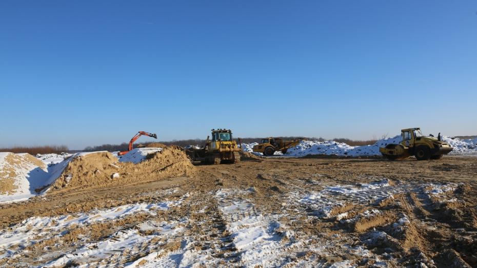 В Воронежской области начали строительство дороги в обход Боброва