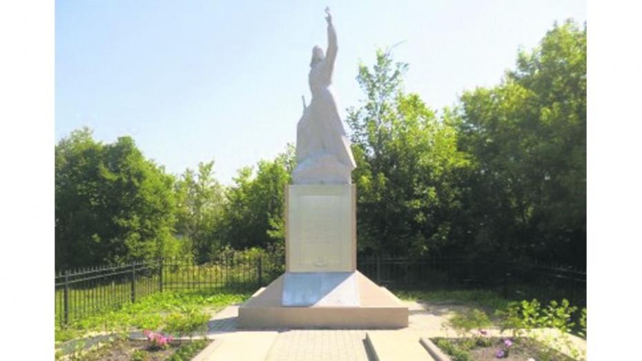В Таловском районе реконструировали воинский мемориал