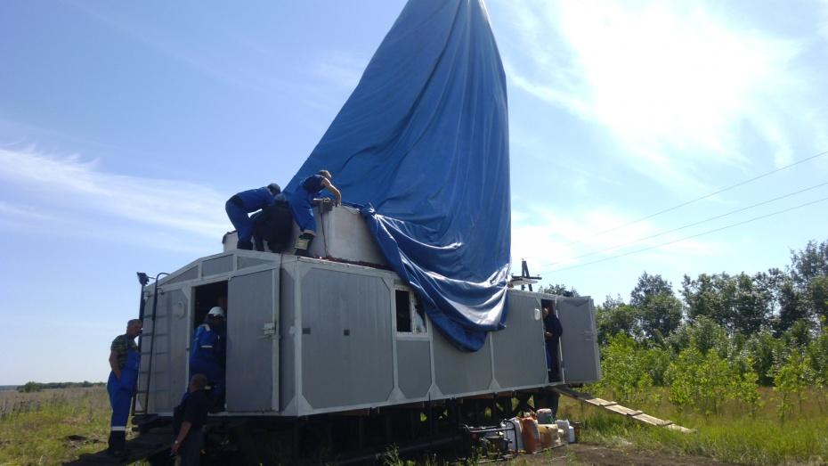 В Новохоперском районе на Еланском месторождении начала работать буровая установка