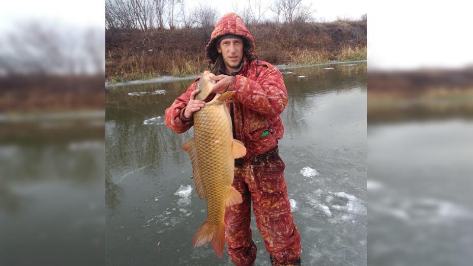 В Богучаре рыбак выловил сазана весом 9 кг