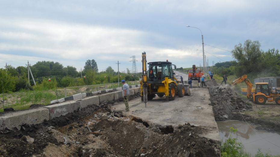В Подгоренском районе на трассе Воронеж – Луганск отремонтируют мост