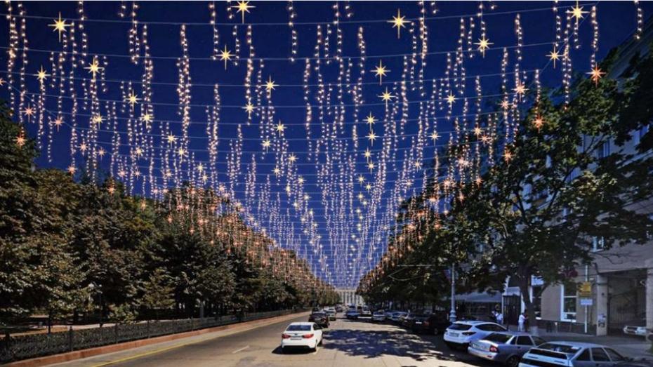 Мэр рассказал, какие световые конструкции появятся в Воронеже ко Дню города