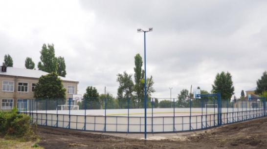 В Бутурлиновке в школе №9 оборудовали многофункциональную спортплощадку